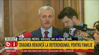 DRAGNEA: IOHANNIS SUBMINEAZA ROMANIA. DRAGNEA RENUNTA LA REFERENDUMUL PENTRU FAMILIE. 14 MAI 2018