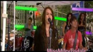Kicking And Screaming  LIVE on Today Show - Miley Cyrus - The Time Of Our Lives