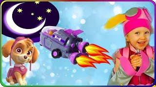 Тома и Игрушки Щенячий Патруль. Набор Ракета Скай. Спасаем косточки в космосе. Видео для детей.