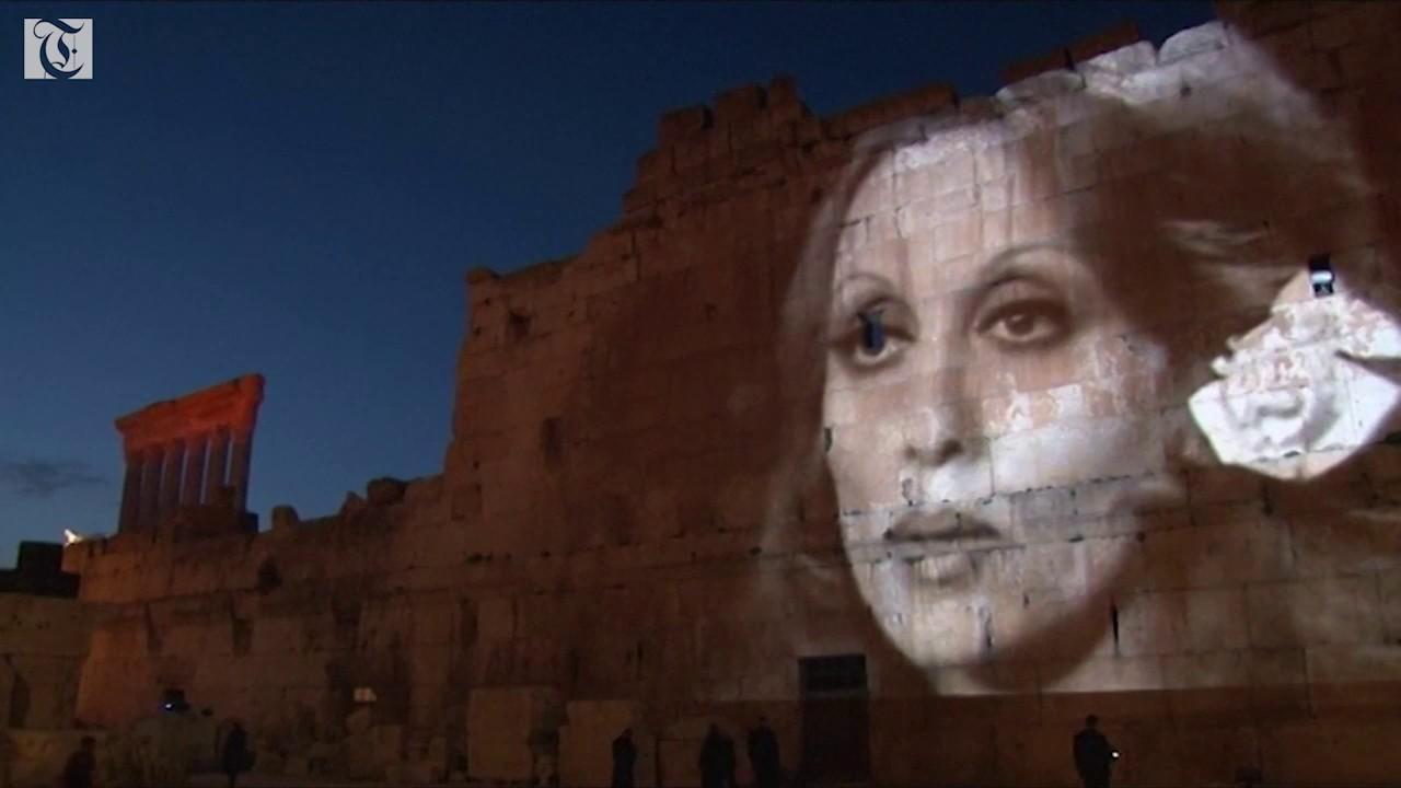 Fairouz Songs with regard to ancient lebanese ruins lit up for singer fairouz - youtube