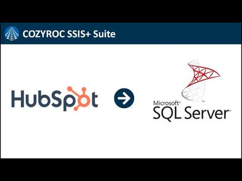 Connect HubSpot To SQL Server - SSIS Integration By COZYROC