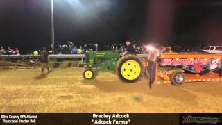Giles County High School FFA Truck And Tractor Pull 4-30-2016 In Minor Hill TN
