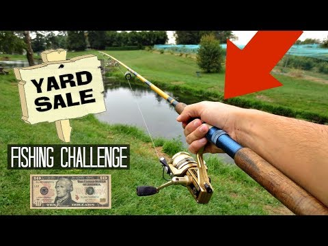 $10 Yard Sale Fishing Challenge!! (Crazy Find!)