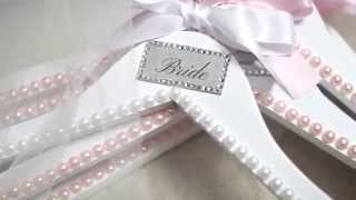 Diy: Bridesmaids Gifts - Customized Hangers (crystals & Pearls)