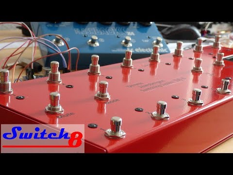 Switch8 Arduino pedal looper/switcher - short demo