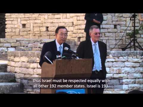 New Video: UN Chief Admits UN Bias & Discrimination Against Israel