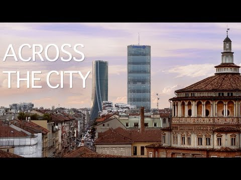 Across The City Aerial Video of Milan Italy - Cinematic Video and architectural Panorama
