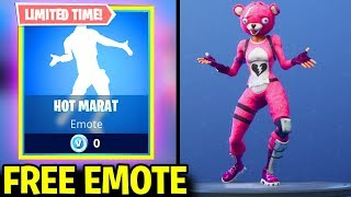 NEW Fortnite HOT MARAT Emote for FREE in FORTNITE BATTLE ROYALE! (LIMITED TIME EMOTE)