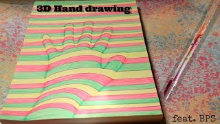 How to draw a 3D hand ft. BornPrettyStore Dazzle pen