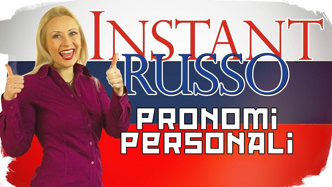 #Instant #Russo - Pronomi Personali