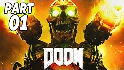 DOOM 4 Gameplay German PS4 Part 1 - Willkommen in der Hölle - Let's Play DOOM Deutsch