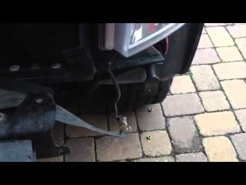 How To Install Replace Bent Rusted Front Bumper 1989 99