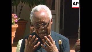 South Africa-Mandela and Nyerere news conference