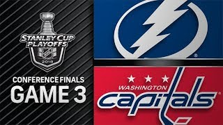 Tampa Bay Lightning vs Washington Capitals - May. 15, 2018 | Game 3 | Stanley Cup 2018. Обзор
