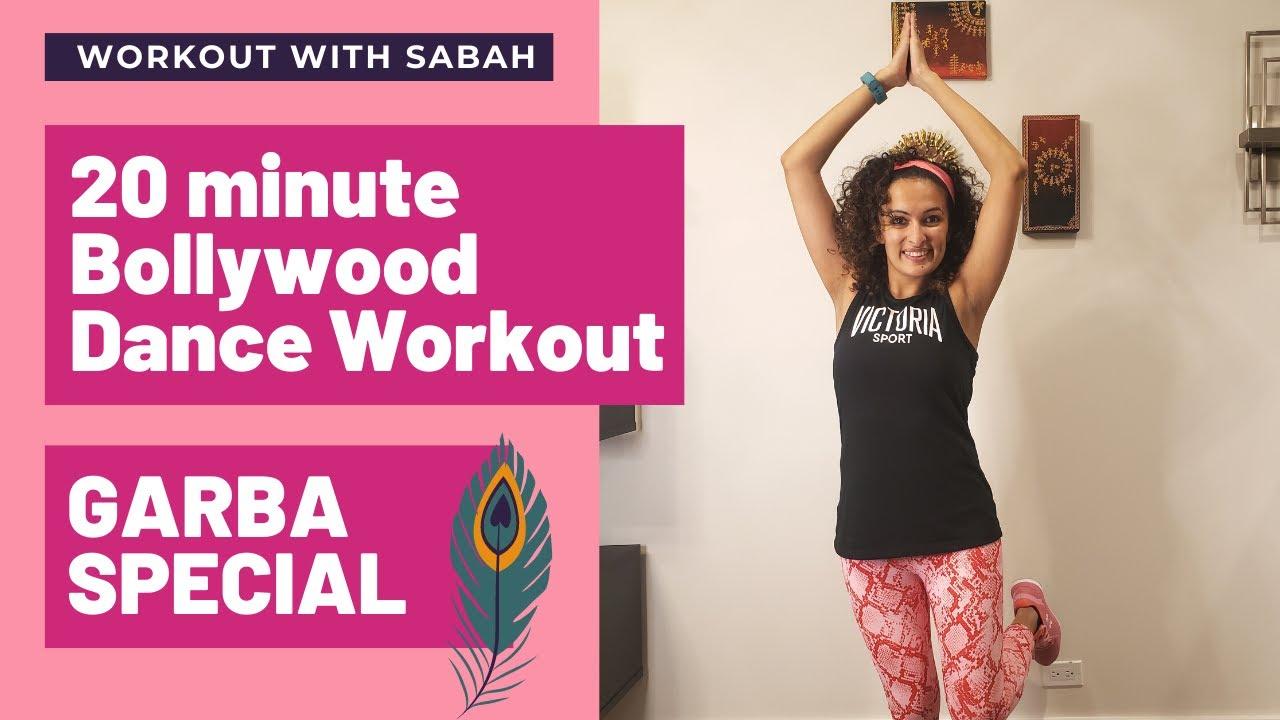 20 minutes GARBA Special Bollywood Dance Workout   Workout With Sabah   Burns 300 cal*