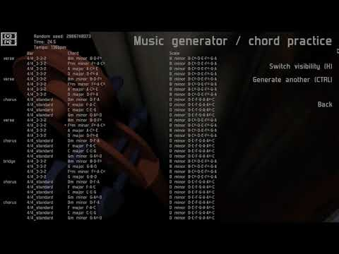 Procedural Music Generator - basic song structure