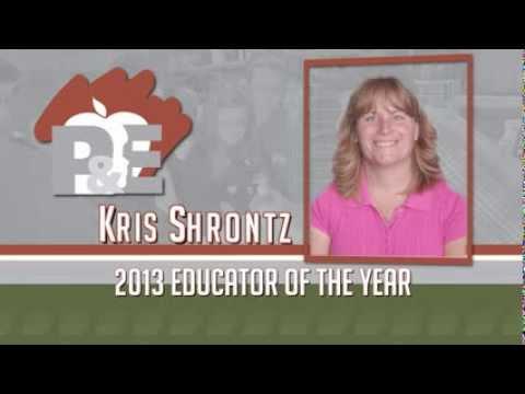 Kris Shrontz, 2013 Michigan Farm Bureau Educator of the Year