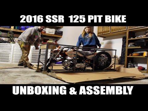 2016 SSR 125 PIT BIKE UNBOXING &  ASSEMBLY