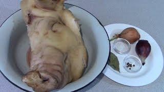 Сочный, мягкий, вкусный САЛЬТИСОН из свиной головы