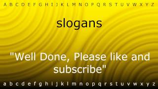 How to pronounce slogans with Zira mp4