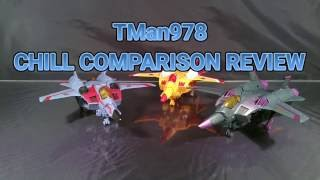 Transformers Animated Starscream, Skywarp & Sunstorm CHILL COMPARISON REVIEW