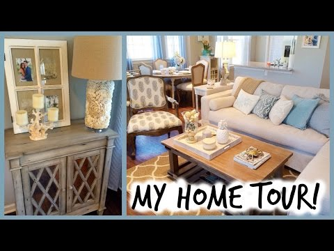 HOME TOUR!!! Coastal Decor | Mint & White