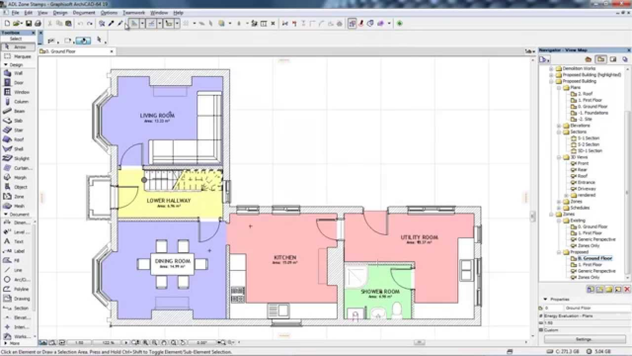 how to add to a slab in archicad