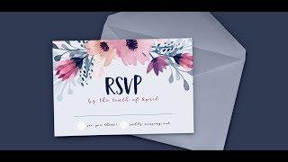 Design a Watercolor Floral RSVP Card in Adobe Illustrator
