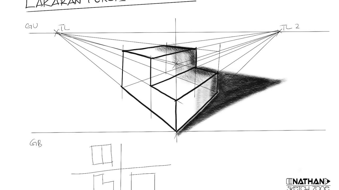 Lakaran Perspektif 2titik Youtube