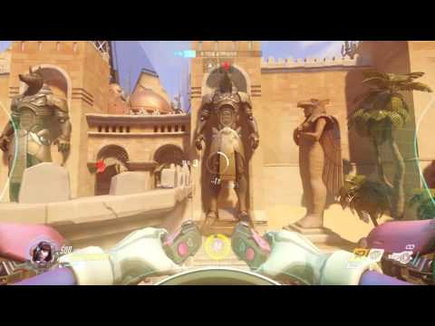 [Overwatch] D.Va in Competitive Play - one of long plays changing positions 3 times/ 디바  3번 공수변경 경쟁전