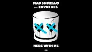 Marshmello - Here With Me Feat. CHVRCHES (Karaoke Version) HD Ⓜ️