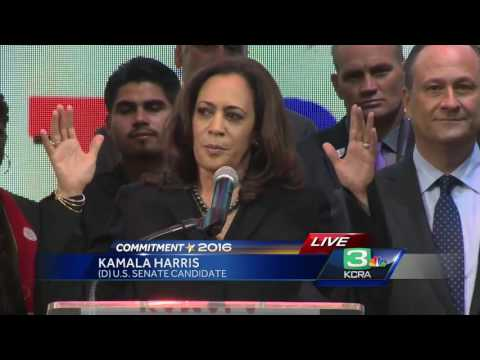 Kamala Harris will 'fight for our ideals' in U.S. Senate