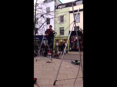 Cambridge's Got Talent - Tightrope walking fiddler
