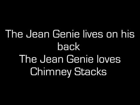The Jean Genie with lyrics