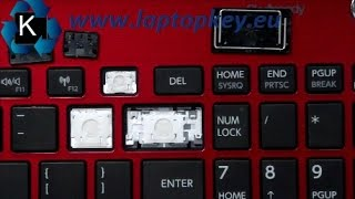 How to install repair fix key in keyboard Toshiba Satellite L50-B S50-B Dell Inspiron 15 7537 7737