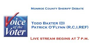 Voice of the Voter Debate   Monroe County Sheriff   October 25, 2017