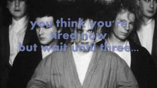 the cure - lets go to bed - lyrics