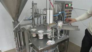 Упаковочное оборудование. Автомат расфасовки в пластиковые стаканчики(, 2015-03-18T16:47:13.000Z)