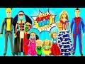 Play doh disney princesses LadyBug Cinderella and Little princesses SuperHero Dress