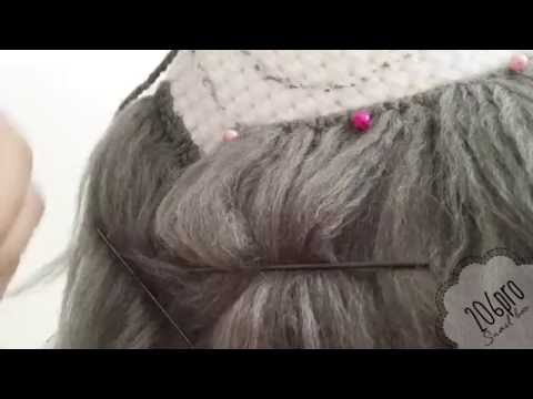 Amigurumi Doll - Blue Tutorial and Pattern - Part 2/3 Hair - YouTube | 360x480