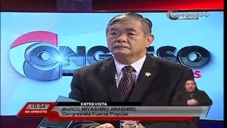 Entrevista al congresista Marco Miyashiro