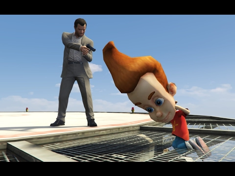GTA 5 KILLING JIMMY NEUTRON? Funny moments #9 (brutal/funny compilation)