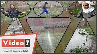 بالفيديو.. مياه الشرب تغرق أراضى زراعية بالمنيب فى الجيزة