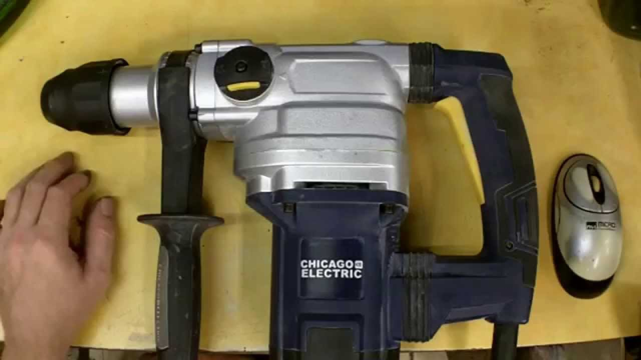 Harbor Freight SDS Max Rotary Hammer Review Item 69334 on