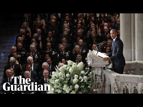 Barack Obama and George W Bush lead McCain tributes