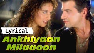 Akhiyaan Milaoon Kabhi Akhiyaan Churao with Lyrics | Raja| Madhuri Dixit,Sanjay Kapoor |Lyrical Song