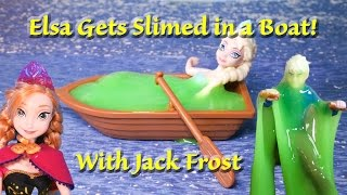 FROZEN Disney Elsa Slimed in a Boat by Jack Frost A Disney Frozen Video Toy Parody