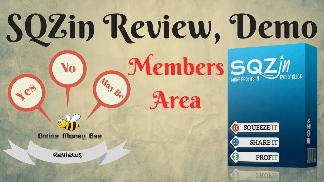 SqzIn Review | Members Area Demo