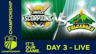 Jamaica v Windwards - Day 3 | West Indies Championship | Sunday 6th January 2019