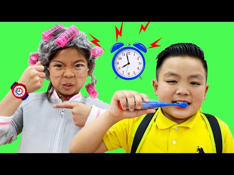 Put On Your Shoes Song Emma & Alex Pretend Play Brushing Teeth Kids Morning Routine  Nursery Rhymes